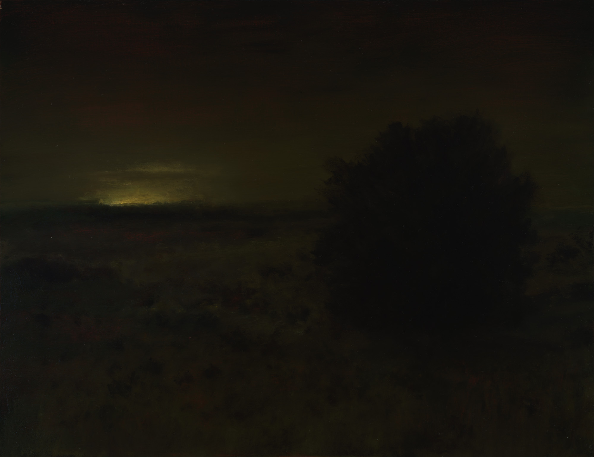 American Tonalism / Chaparral at Night / Chris Peters