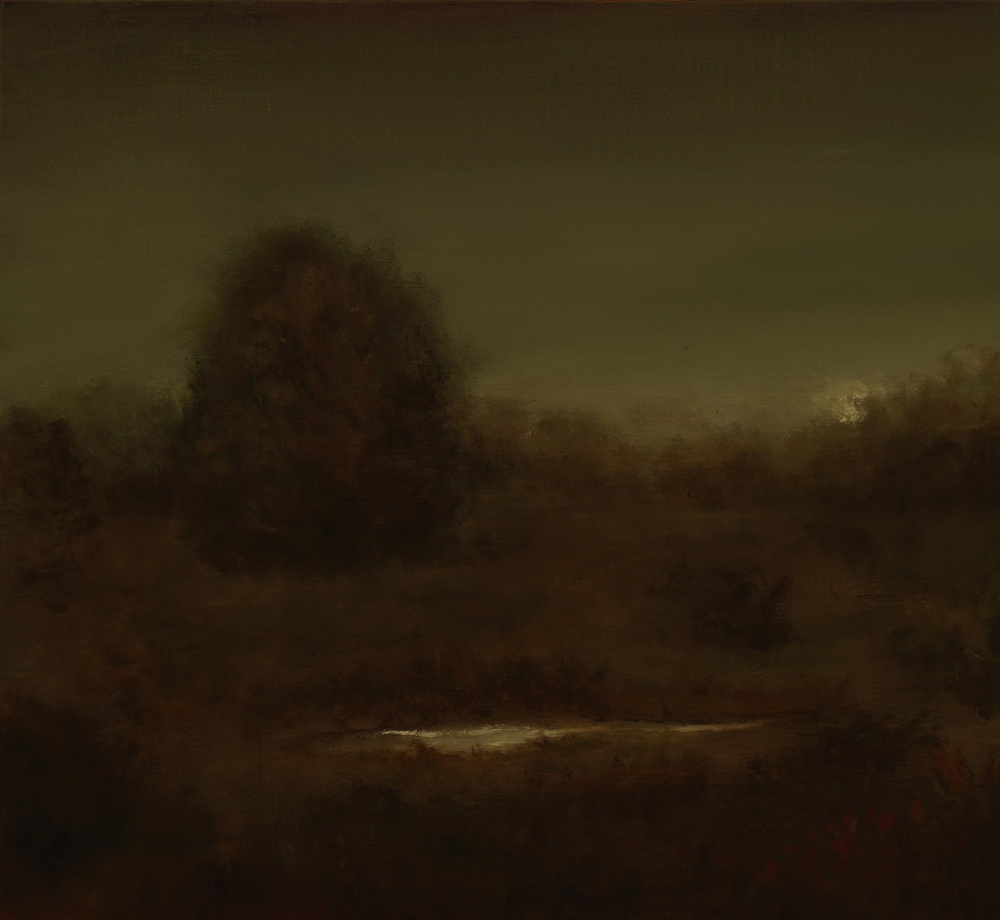 American Tonalism / Moonrise Through Trees / Chris Peters