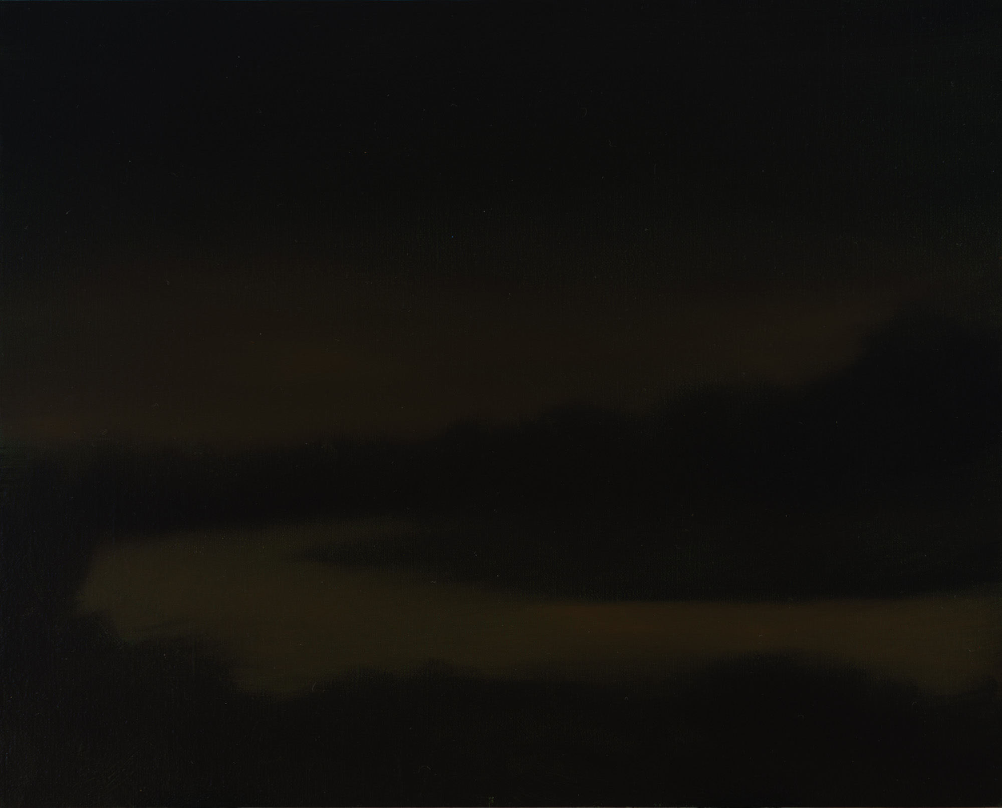 American Tonalism / Study for Night River / Chris Peters