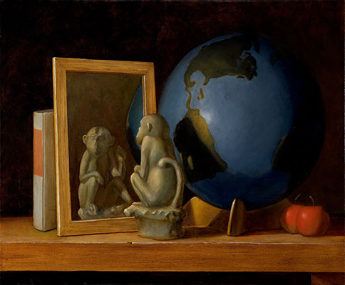 Chris Peters | The Devil You Know | Monkey Mirror Globe Still Life Painting